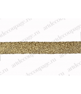 Тесьма золотая с люрексом 10 мм х 1 м, PEGA