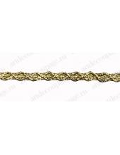 Тесьма золотая 6,5 мм, 1 м, PEGA (Чехия)