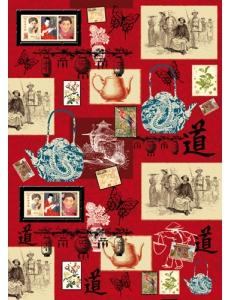 """Декупажная карта Stamperia DFG374 """"Китайские винтажные рисунки"""", 50х70 см"""