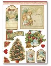 """Наклейки новогодние """"Счастливого Рождества"""", Stamperia"""