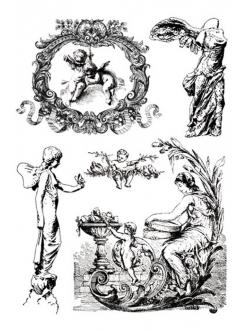 Переводная карта Transfer Ангелы, рамочки, 2 листа, Stamperia
