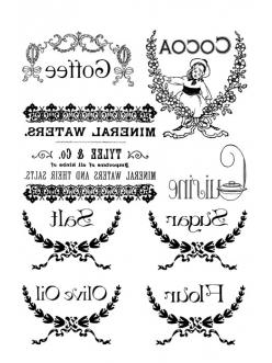 Переводная карта Transfer Надписи с орнаментом 2 листа, Stamperia