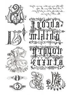 Переводная карта Transfer Готический орнамент, 21х29,7 см, 2 листа, Stamperia DFTR007