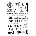 """Переводная карта Transfer DFTR010 """"Надписи"""", 21х29,7 см, 2 листа, Stamperia"""