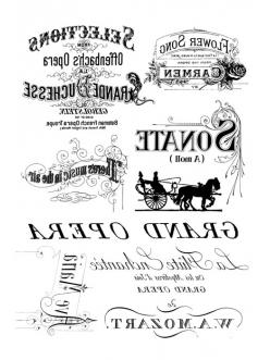 Переводная карта Transfer Винтажные надписи, 21х29,7 см, 2 листа, Stamperia DFTR012
