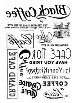"""Переводная карта Transfer DFTR013 """"Кофе, надписи"""", 21х29,7 см, 2 листа, Stamperia"""