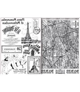 "Переводная карта Transfer DFTR033 ""Париж"", 21х29,7 см, 2 листа, Stamperia"