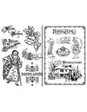 """Переводная карта Transfer DFTR034 """"Рождество"""", 21х29,7 см, 2 листа, Stamperia"""