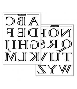 "Переводная карта Transfer DFTR036 ""Алфавит"", 21х29,7 см, 2 листа, Stamperia"