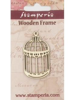 Деревянная плоская фигурка Клетка, 6х11 см, Stamperia Италия