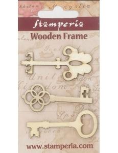 Декоративные элементы из дерева, фигурки Ключи , 6 см, 3 шт, Stamperia (Италия)