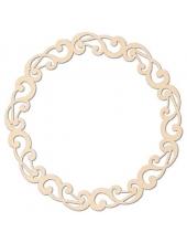 Декоративный элемент Рамочка круглая, 9,5 см, дерево, Stamperia (Италия)