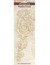 """Декоративный деревянный элемент, фигурка """"Завиток большой 2"""", 9х21 см, Stamperia (Италия)"""