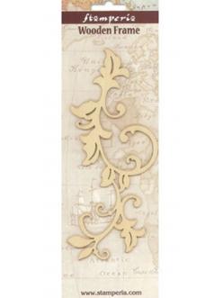 Деревянная плоская фигурка Завиток большой 1, 9х21  см, Stamperia Италия