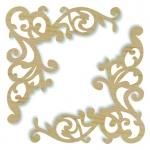 Декоративные элементы из дерева Уголки ажурные большие, 11,5х11 см, 2 шт, Stamperia (Италия)