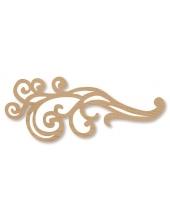 """Декоративный деревянный элемент, фигурка """"Завиток"""", 5,6х13,7 см, Stamperia (Италия)"""
