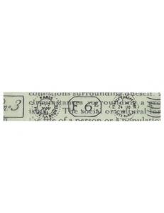 "Декоративный скотч с рисунком SBA175 ""Печати и штампы"", 10 мм х10 м, Stamperia (Италия)"
