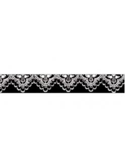 """Декоративный скотч с рисунком SBA191 """"Кружевная лента черная"""", 10 мм х10 м, Stamperia (Италия)"""