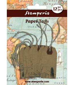"Набор бирок ""Путешествия"", 12 шт., Stamperia (Италия)"