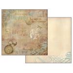 "Бумага для скрапбукинга двусторонняя ""Amour"", Stamperia, 31,2х30,3 см"