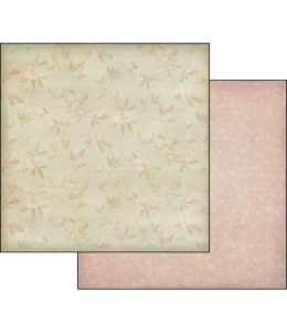 "Бумага для скрапбукинга двусторонняя ""Цветочный орнамент"", Stamperia, 31,2х30,3 см"