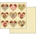 """Бумага для скрапбукинга двусторонняя """"Будь моим Валентином"""", Stamperia, 31,2х30,3 см"""