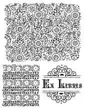 """Набор силиконовых штампов WTK073 """"Экслибрис"""", Stamperia, 18х14 см"""