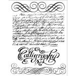 """Набор силиконовых штампов WTK075 """"Каллиграфия"""", Stamperia, 18х14 см"""
