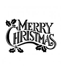 "Штамп силиконовый WTK120 ""Merry Christmas"", 5х7см, Stamperia"