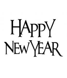 """Штамп силиконовый WTK121 """"Happy New Year"""", 5х7см, Stamperia"""