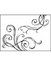 "Штамп резиновый на резиновой основе WTKCC02 ""Завитки"", Stamperia, 5х7 см"