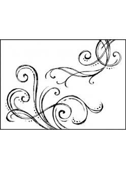 Штамп резиновый на резиновой основе Завитки, Stamperia WTKCC02, 5х7 см