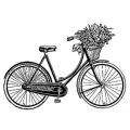 "Штамп резиновый на резиновой основе WTKCC03 ""Велосипед"", Stamperia, 7х11 см"