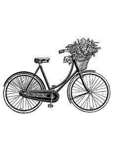 "Штамп резиновый на резиновой основе ""Велосипед"", Stamperia, 7х11 см"