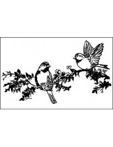 """Штамп резиновый на резиновой основе WTKCC04 """"Птицы на ветке"""", Stamperia, 7х11 см"""