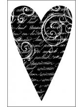 "Штамп резиновый на резиновой основе WTKCC07 ""Сердце"", Stamperia, 7х11 см"