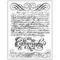 """Набор резиновых штампов """"Каллиграфия"""", Stamperia, 14х18 см"""