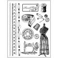 """Набор резиновых штампов """"Ателье"""", Stamperia, 14х18 см"""