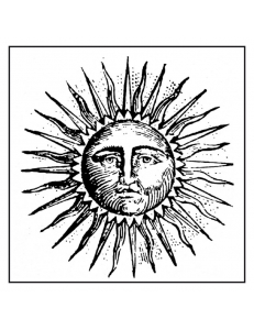 "Штамп резиновый на резиновой основе WTKCC124 ""Солнце"", 10х10 см, Stamperia"