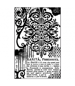 """Штампы резиновые на резиновой основе WTKCC133 """"Орнамент и надписи"""", 7х11 см, Stamperia"""