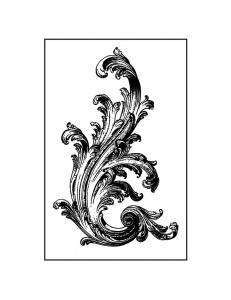 """Штамп резиновый на резиновой основе WTKCC135 """"Акантовый орнамент"""", 7х11 см, Stamperia"""