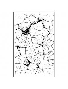 """Штамп резиновый на резиновой основе WTKCC136 """"Тонкий кракле"""", 7х11 см, Stamperia"""