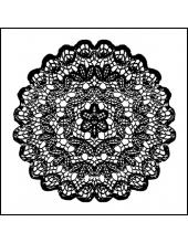 """Штамп резиновый на резиновой основе WTKCC15 """"Кружевная салфетка"""", Stamperia, 10х10 см"""
