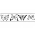 """Штампы резиновые на резиновой основе WTKCC51 """"Бабочки"""", 4 шт. по 3,5 см, Stamperia"""