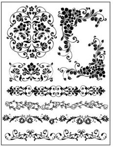 """Набор резиновых штампов WTKCC68 """"Уголки и бордюры"""", 8 шт., Stamperia, 14х18 см"""
