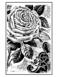 """Штамп резиновый на резиновой основе """"Пионы"""", Stamperia, 7х11 см"""