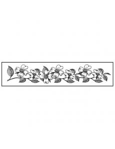 """Штамп резиновый на резиновой основе """"Цветочный бордюр"""", 3,8х17,5 см, Stamperia"""
