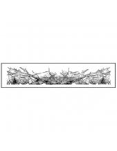 """Штамп резиновый на резиновой основе """"Эффект пергаментной бумаги"""", 3,8х17,5 см, Stamperia"""