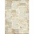 """Рисовая бумага для декупажа Stamperia DFSA3004 """"Старые ноты"""", формат А3"""