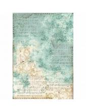 "Рисовая бумага для декупажа Stamperia DFSA3017 ""Ноты и орнамент"", формат А3"